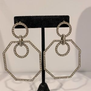 Pave style crystal earrings